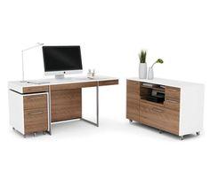 white walnut office furniture. BDI\u0027s Format Office Collection In Walnut And White #office #desk #credenza Furniture Pinterest