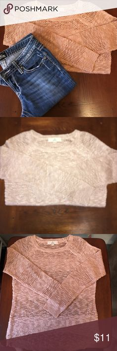 Pink Republic Sweater Worn once and then dry cleaned... Peach/bronze colored cable knit sweater.  Size Juniors Medium. fits S-M.  Slightly longer length in back than the front. 100% Acrylic. Pink Republic Sweaters