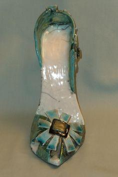 fd5a40f62f0 Sarah s Shoe scultpured raku ceramic shoe by AShoeForSarah Ceramic Shoes
