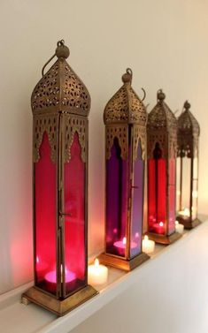 "Pink Tall Moroccan Style Lantern,  love them so much..........."":))) #MoroccanDecor"