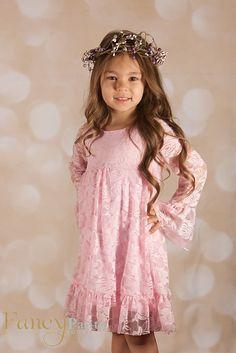 Pink Boho Chic Lace
