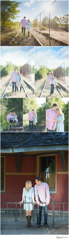 d-Squared Designs St. Louis, MO Engagement Photography #railroadstation