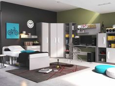 Great Wallpapers Youth Room Boy Inspiration Youth Room Ideas With . Stylish Bedroom, Modern Bedroom, Interior Design Examples, Youth Rooms, Teenage Room, Boys Teenage, Room Wallpaper, Boy Room, Locker Storage