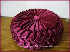 Canadian Smocking Pillow | Vani's blog 2 : The method of making round cushion-- part 2 Continued ...