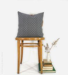 Black & White Pillow Cover  18x18 Fleur de Lis by ClassicByNature
