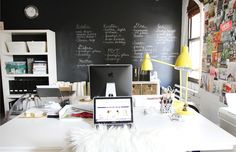Erin Gates of Elements of Style - office tour via The Everygirl