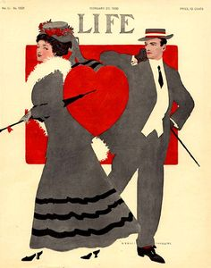 Life Magazine, February 20, 1908. Cover by Coles Phillips