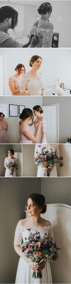 #yorkshirewedding #yummyyorkshire #bride #bouquet #portrait #weddingdress #lace