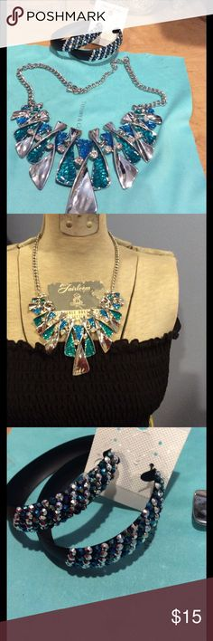 Set of necklace and earring Brand new Jewelry
