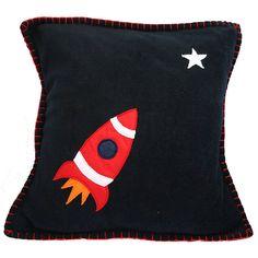 space rocket cushion by nickynackynoo | notonthehighstreet.com