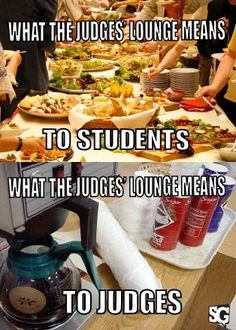 So true. Students think of the judge's lounge as a magical land full of food, but it's usually just someone's weird lasagna and an empty bowl where chips once were. ------ Excited about the tournament season? So is HugSpeak! We love helping students get prepped for speech & debate tournaments. To learn more about our public speaking coaching and student workshops, visit www.HugSpeak.com