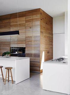 keuken met houten muur - Google zoeken