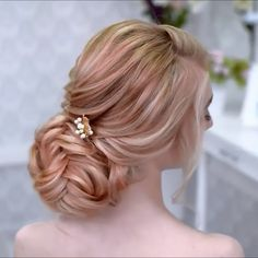 Glam Updo Styles For Wedding! Glam Updo Styles For Wedding! Up Hairstyles, Braided Hairstyles, Wedding Hairstyles, Hairstyle Ideas, Updo Styles, Curly Hair Styles, Hair Upstyles, Braided Updo, Hair Videos