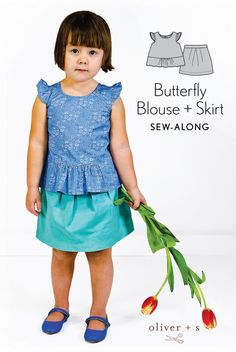 Oliver + S Butterfly Blouse + Skirt sew-along