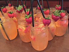 Serve refreshing strawberry lemonade at summer and outdoor events.