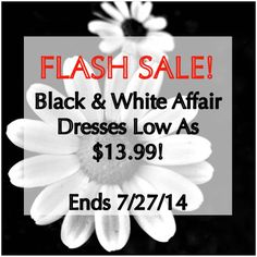 FLASH SALE! This week is Black & White Dresses!  Check out our sexy dresses!   #flashsale #sale #blackwhite #sexydresses #sexy #partydress #clubwear #nightlife #discount #tuesday #fashion #womensclothing #love #model #tuesday #accessories #makeup