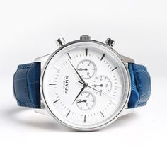 Montpellier White Chronograph Watch - Grand Frank Get it at www.grandfrank.com
