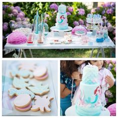 Gorgeous mermaid + ariel birthday party via Kara's Party Ideas!