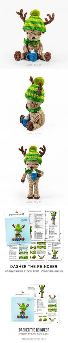 Dasher the Reindeer amigurumi pattern
