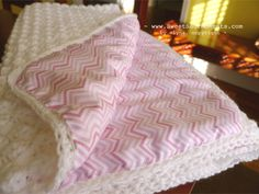 Baby Blanket. Crochet then line with soft fabric. Could turn all the crocheted blankets into this to make them usable.