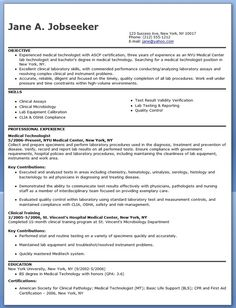 Medical Technologist Resume Example    Weu0027ll Keep This...just In