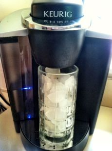 how to make iced coffee in a keurig brewer