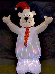 Inflatable Christmas Polar Bear 6FT Tall Garden Yard LED Lighted Holiday Decor #SmartDealsMarket