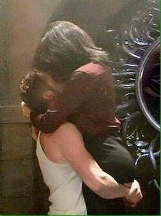 Awesome Regina and Robin kissing in Regina's awesome vault in an awesome fourth season episode of Once