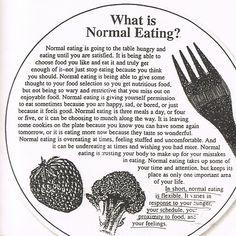 Normal Eating