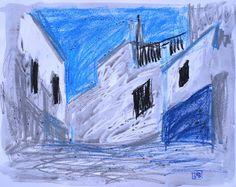 Paisaje 39-2003 Fuente Obejuna Dibujo Técnica por PINACOTHECULA