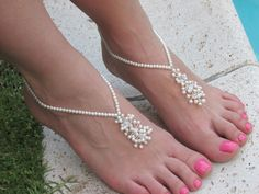 Barefoot Sandal/ Destination Beach Wedding Party Anklet Foot Jewelry on Etsy, $51.91 AUD