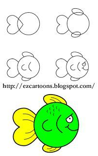Doodle Art For Beginners Easy Butterfly Drawing, Easy Flower Drawings, Easy Animal Drawings, Easy Cartoon Drawings, Easy Drawings For Kids, Fish Drawings, Drawing For Kids, Doodle Art For Beginners, Easy Drawings For Beginners