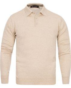 Morris Heritage Long Sleeve Polo Shirt Off White i gruppen Tröjor / Stickade Tröjor hos Care of Carl (12636411r)