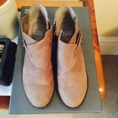 Eileen fisher nubuk taupe ankle boots Taupe suede Eileen fisher ankle boots. Very comfy gently used. Great conditions. Shoes