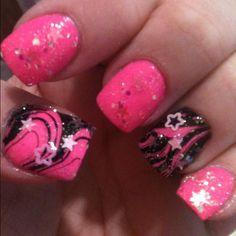 Pink n Black water marble