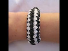 Rainbow Loom CHARMING CHECKERBOARD Bracelet. Designed and loomed by Claire's Wears. Click photo for YouTube tutorial. 03/18/14.
