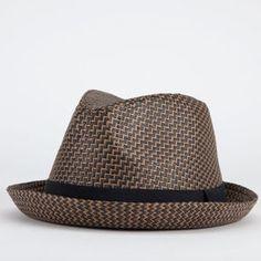 06a9fa492c3ac BLUE CROWN Chevron Mens Fedora - ShopStyle Hats