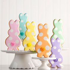Rainbow of Cottontails Easter Cookies