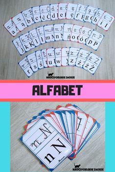 Plansze edukacyjne z literami drukowanymi i pisanymi. #alfabet #alphabet #reading #kids #litery Event Ticket, Speech Language Therapy