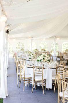 Neutral & Elegant Outdoor Wedding, Tented Wedding Reception Ideas | ElegantWedding.ca #tentedwedding #neutralwedding #weddingideas