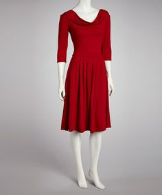 Take a look at this Red A-Line Dress by Reborn Collection on #zulily today!
