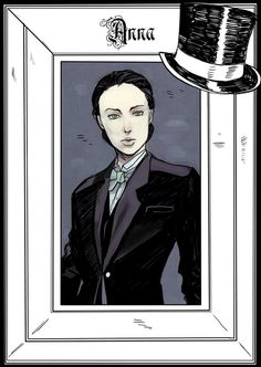 Anna Lightwood - released on Cassandra Clare's Tumblr - drawn by Cassandra Jean