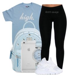 """""""high"""" by str8-savage ❤ liked on Polyvore featuring MCM, OMEGA and NIKE"""