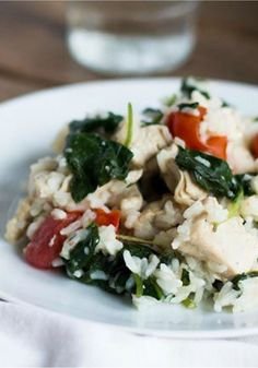 Chicken and Spinach Risotto – It's easy. It's creamy. And it's fast, too. Add chicken, spinach, Parmesan cheese, and rice for a dinnertime meal that's ready in just 30 minutes!