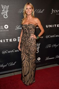 Heidi Klum Photos Photos - Model Heidi Klum attends Angel Ball 2015 hosted by Gabrielle's Angel Foundation at Cipriani Wall Street on October 19, 2015 in New York City. - Gabrielle's Angel Foundation Hosts Angel Ball 2015 - Arrivals