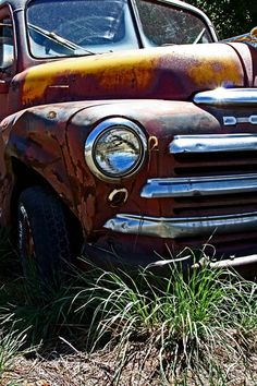 Old Dodge Taos Truck Art  Old Farm Truck  Front by CheyAnneSexton