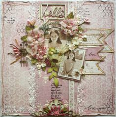Scrapping Pink! {Maja Design and Tresors de Luxe}
