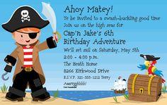 Pirate Adventure Invitations