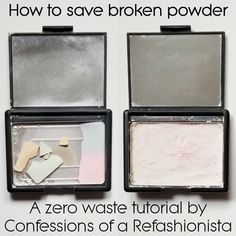 Discover how to save broken powder make up + upcycle those compacts once they're empty and whip up some fabulous gear for your kiddo too! Best Makeup Brands, Best Makeup Brushes, Beauty Hacks Skincare, Beauty Makeup Tips, Diy Beauty Tutorials, Cleansing Mask, Diy Mask, Lipstick Colors, Confessions