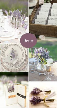 Lavender Wedding Ideas, Decor, Cakes & Favours - Sweet & Chic Lavender